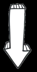 white arrow straight
