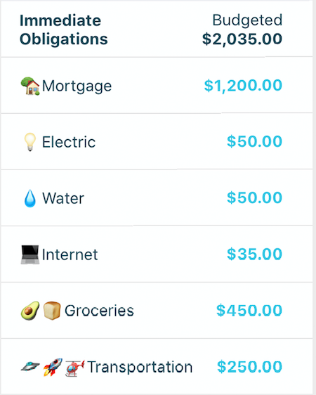 Emojis in YNAB Mobile