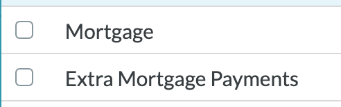 Two categories are set up in my budget in YNAB