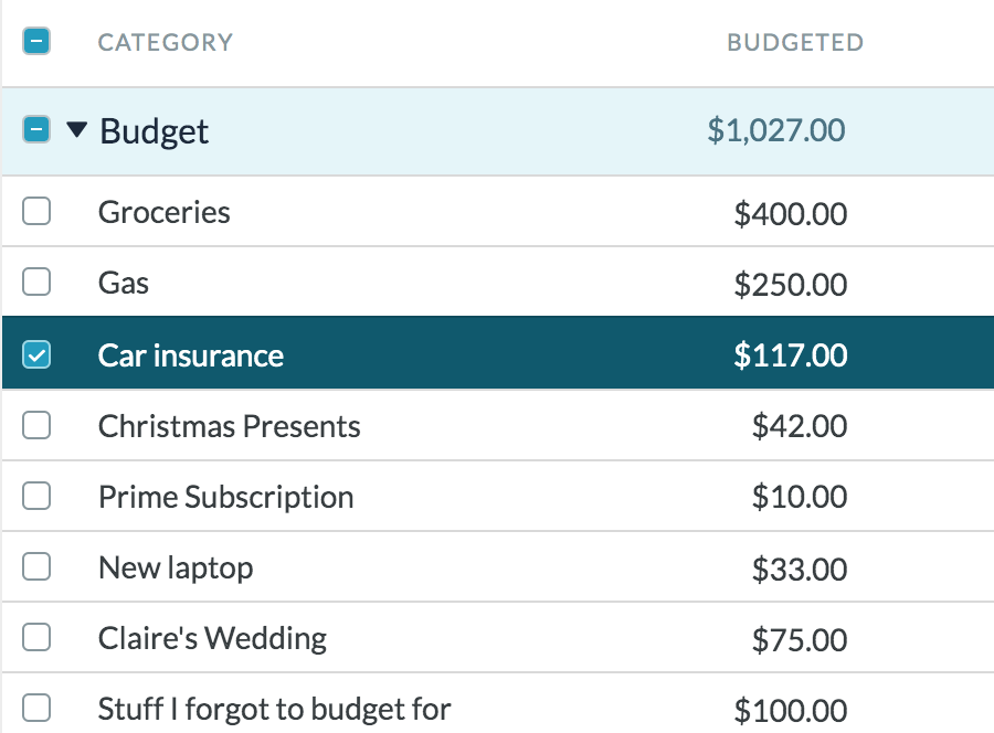 Include non-monthly expenses in your budget to plan for variable expenses.