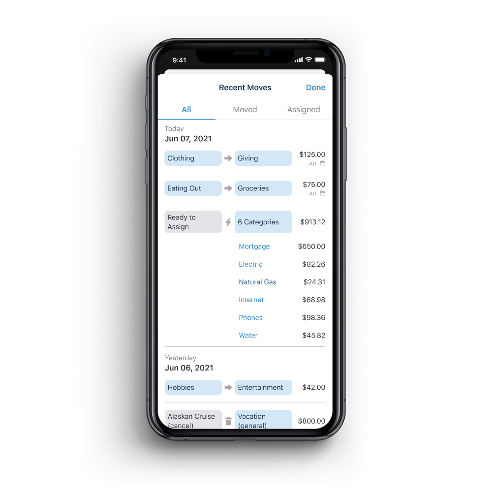 See your recent money moves now on mobile!
