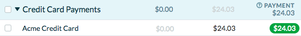 See the sum of your credit card purchases in your YNAB budget