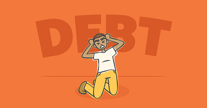 Addicted to getting into debt, frustration