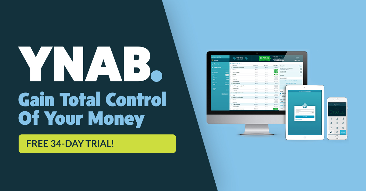 YNAB  Personal Budgeting Software for Windows, Mac, iOS and Android